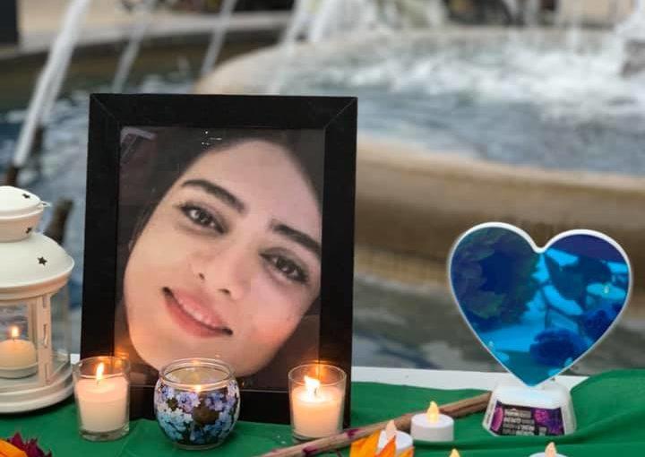 Candle light vigil for Blue Girl