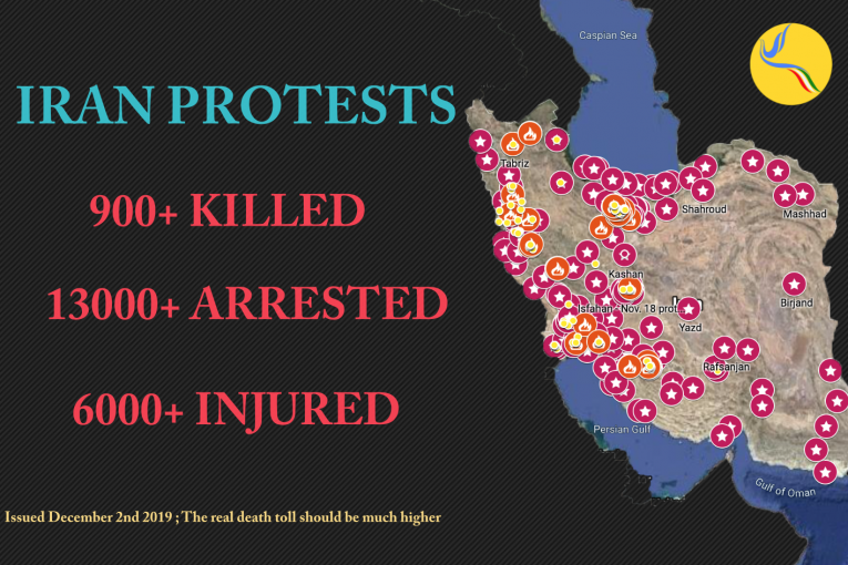 IRAN: The estimated death toll of November national protests has risen to over 900 protesters.